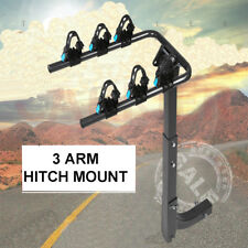 3-Bicycle Rack Bike Hitch Mount Foldable Rear Carrier Swing Receiver for Car SUV