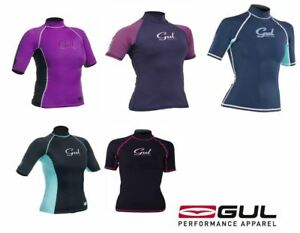 GUL SWAMI RASH VEST O/S Girls Ladies Teens Wetsuit Guard Surf UV+ Swim Top