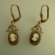 Paar Ohrringe mit Kamee im Stil der Biedermeierzeit (41224)