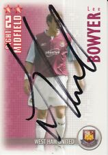 LEE BOWYER HAND SIGNED WEST HAM 06/07 SHOOT OUT CARD 2006/2007.