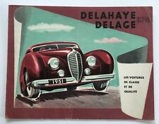 Delage Delahaye D6 135M 175 148 GFA Original Car Sales Brochure Folder - 1951