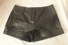Faux leather SHORTS pants sexy black cheap chic a booti low rise 8 10 Vgc
