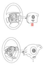 Genuine installation kit for airbag w steering wheel leather 1J0898203E74