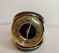 Vintage Bradley Travel Alarm Clock Folding Compact Case Numbers Glow Japan Worms