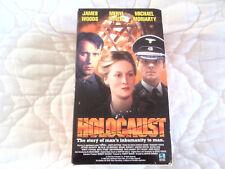 HOLOCAUST 3 VHS BOX SET LOT MERYL STREEP JAMES WOODS WW2 WWII WAR GERMANY NAZIS