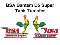 BSA Bantam D5 Super Tank Transfers Decals Classic Motorcycle D50084
