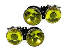 French Yellow Glass Lens 84-91 BMW E30 Euro Smiley Ellipsoid Projector Headlight