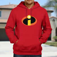 The Incredibles Mr Logo Symbol Costume Hooded Sweater Jacket Pullover Hoodie Top