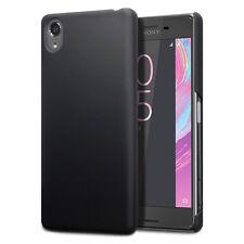 Original Sony Xperia X Compact Case Slim Rugged Hybrid Rubberised Tech Black