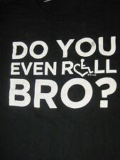 "XL black ""DO YOU EVEN ROLL, BRO?"" t-shirt by GILDAN"