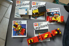 lot de lego n°600-603-614-615-622 avec instructions 70's TBE legoland