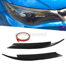 Carbon Fiber Headlight Lids Eyebrow Eyelids Cover for Subaru Impreza WRX 08-11