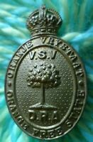 Orange Free State Defence Rifle Association Cap Badge KC 2 Lugs BRASS