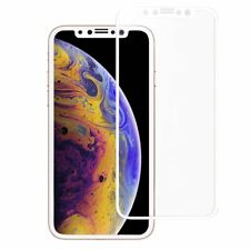 3D CURVED FULL TEMPERED GLASS LCD SCREEN PROTECTOR WHITE FOR IPHONE 11 PRO X XS