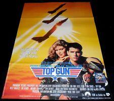 Top Gun ORIGINAL Germany A1 POSTER Tom Cruise Kelly McGillis Navy fighter Art!