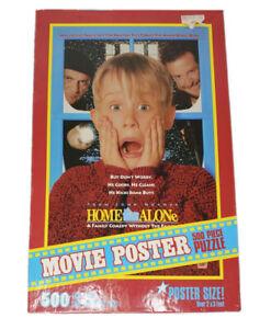 Vintage Home Alone Movie Poster Puzzle 500 Pieces Milton Bradley