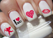 Valentine's Day Nail Art Stickers Transfers Decals Set of 54