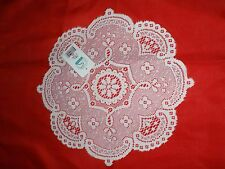 "GREAT BAY LACE DOILIES CHABLIS  NWT 12"" ROUND ECRU"