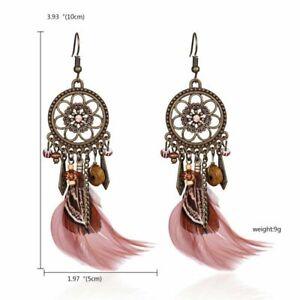 Bohemia Vintage Dreamcatcher Drop Dangle Hook Earrings