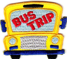 """""""BUS TRIP""""- Iron On Embroidered Patch - School - Vehicle -  Children - Vacation"""