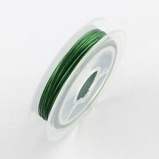 1 x 10m Steel Green Tiger Tail Beading Wire 0.45mm Craft Jewellery Making