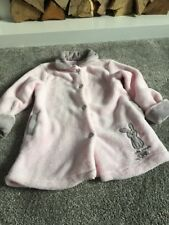 tutto piccolo Baby Girls Pink Grey Dressing Gown/House Coat 18 Mths Gorgeous❤️