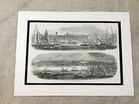 Antique Print Queen Victoria Royal Yacht Visit to Liverpool Original 1851