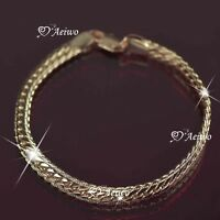 18k rose gold gp bracelet link snake chain bling bling 20cm fashion jewelry