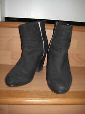 Womens Rag & Bone Newbury Boot in Black Suede with White Stripe Size 36.5