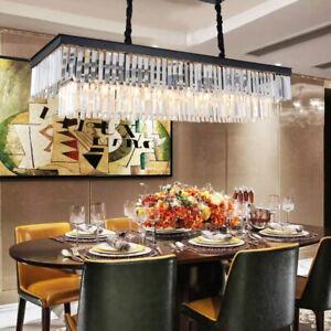 LED  crystal Living Room Restaurant Bar Cafe rectangular chandelier lighting1018