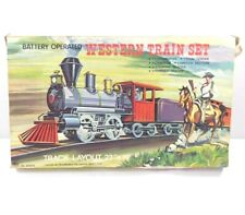 Vintage Battery Operated Western Train Set with Track