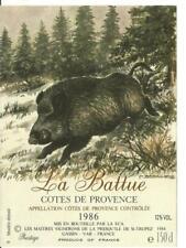 5 cotes de provence labels 1986. magnum. hunting. large format.