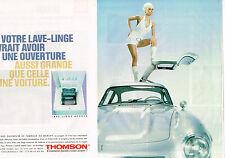 PUBLICITE ADVERTISING 104  1996  THOMSON  machine à laver lave-linge ( 2 pa