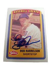 BUDDY BUD HARRELSON 1990 Swell CMC Autographed Signed AUTO Baseball Card 111
