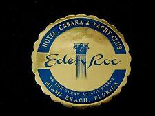 Hôtel eden roc Miami Beach yacht club FL usa * Old Luggage label valise Autocollant