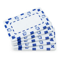 10 White 32g Blank Rectangular Square Poker Chips Plaques New- Buy 2, Get 1 Free