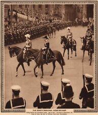 CORONATION 1937. King's aides-de-camp. Mountbatten. Dukes Gloucester Kent 1937