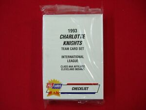 1993 CHARLOTTE KNIGHTS FLEER PROCARDS MiLB TEAM SET JIM THOME C. MANUEL INDIANS