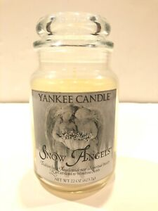 YANKEE CANDLE Snow Angels 22 ounce Large Jar NEW