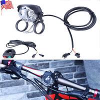 Electric Bike Bicycle 3W LED Front Light Headlight DC 12V-80V 60Lux Flashlight