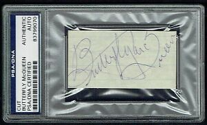 Butterfly McQueen signed autograph 1x3 cut Gone With The Wind PSA Slabbed