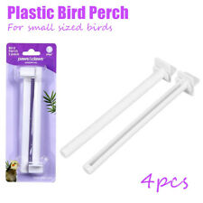 8pc Paws & Claws Bird Perch Parrot Pet Climbing Play Toy Stand for Cages White