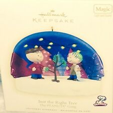 NEW 2009 Hallmark Ornament PEANUTS Just The Right Tree in box With Price