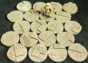 32mm Space Tech Bases, scenic resin, Qty 10-50 available, unpainted sci-fi