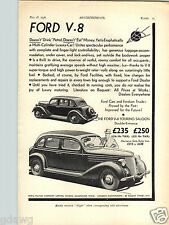 1936 PAPER AD Airplane Reid & Sigrist Gyroscope V 8 Ford Touring Saloon 4 Door