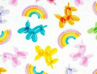 FAT QUARTER FABRIC  BALLOON ANIMALS  TWISTED BALLOONS - SCULPTURES  COTTON  FQ