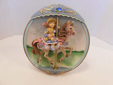 """Carousel Daydreams """"When I Grow Up"""" Bradford Exchange 1994 Musical Plate Mib"""