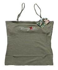 ROXY  QUIKSILVER GIRLS WOMEN'S SUMMER STRAPPY TOP KHAKI TUBE CAMI VEST TOP UK6