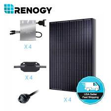 Renogy 1000 Watts Solar Panel 1KW Monocrystalline PV Grid-Tied Solar System Kit