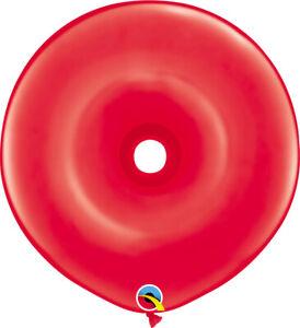 "DONUT BALLOONS STANDARD RED 25ct QUALATEX 16"" GEO DONUT MODELLING BALLOONS"
